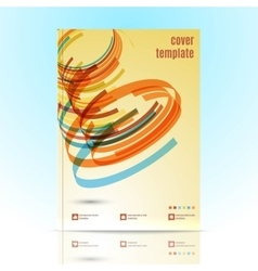Design for Cover Layout in A4 size vector image vector image