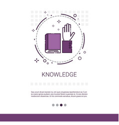 Knowledge elearning education online banner with vector