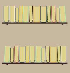 shelves with colorful booksflat vector image