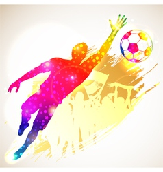 Soccer Goalkeeper vector image vector image