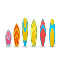 a surfboards vector image