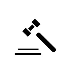 auction hammer icon black vector image vector image