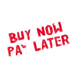 buy now pay later rubber stamp vector image vector image