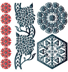 Floral Islamic ornaments vector image