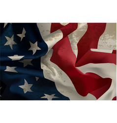 flowing american flag vector image vector image