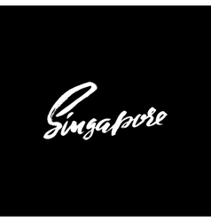 Greetings from Singapore Greeting card with vector image vector image