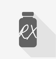 receipt vial pill bottle with shadow vector image vector image