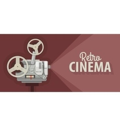 Retro movie projector for old vector image vector image
