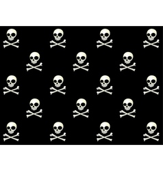 skull halloween pattern vector image vector image