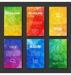 Web Design Set Template Business triangular vector image vector image