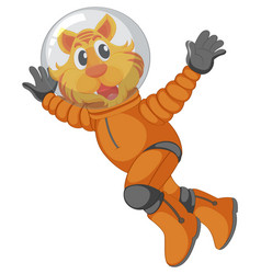 a tiger astronaut character vector image