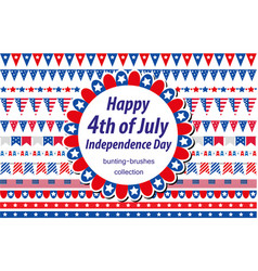 American independence day celebration in usa set vector