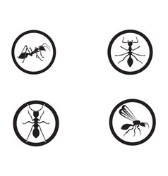 Ant logo template design vector