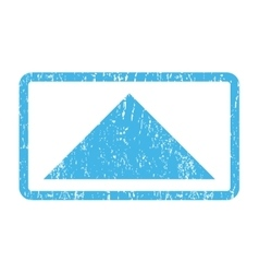 Arrowhead Up Icon Rubber Stamp vector