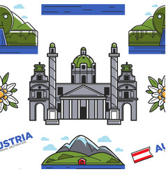 austria nature and architecture seamless pattern vector image