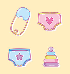 baby cartoons collection vector image