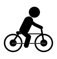 Bike riding pictograph icon vector