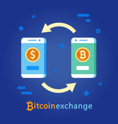 Bitcoin exchange concept cryptocurrency money vector