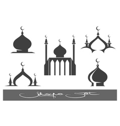 Black Mosques icons set vector image