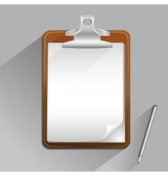 Brown clipboard vector