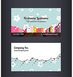 Business card layout Editable design template vector image