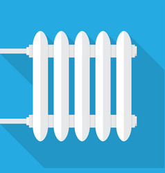 Cast-iron radiator for heating systems vector