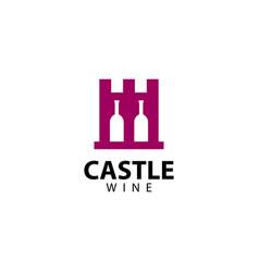 Castle wine logo icon vector