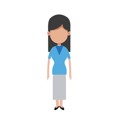 character woman people standing image vector image