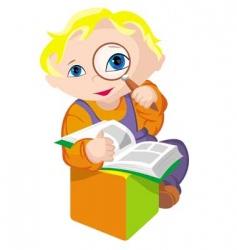 child scientific vector image