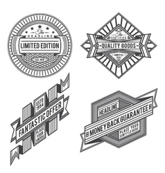 collection retro vintage style labels and banne vector image