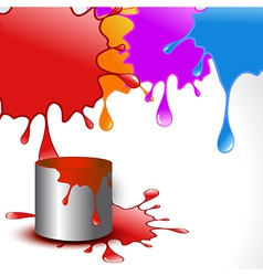 Colorful holi splashes vector