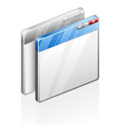 computer windows vector image