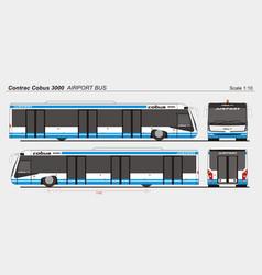Contrac cobus 3000 airport passenger vector