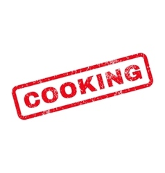Cooking text rubber stamp vector
