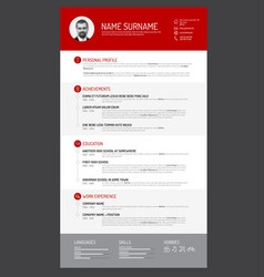 Cv resume template vector