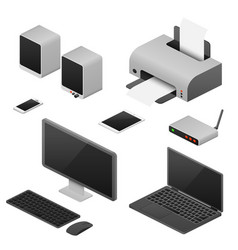 digital workstation isometric computers vector image