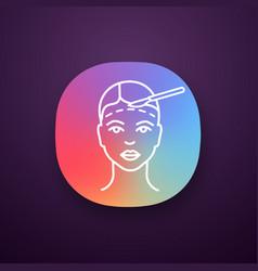 Facelift surgery app icon vector