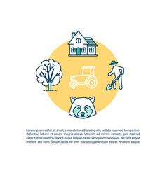 Farming concept icon with text vector