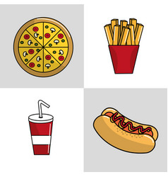 fast food background icon vector image