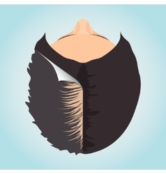Female alopecia concept vector