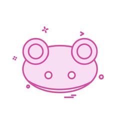frog icon design vector image