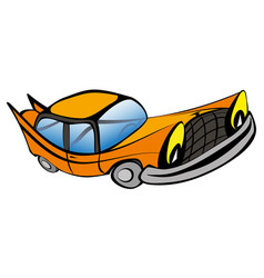 Funny old car cartoon vector