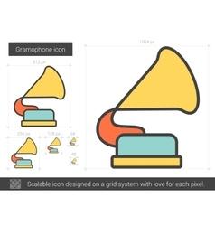 Gramophone line icon vector image