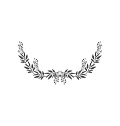 gray scale half crown with olive long branch vector image