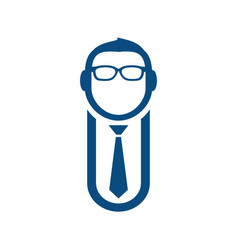 guy with glasses and tie vector image