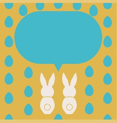 Happy easter greeting card template vector