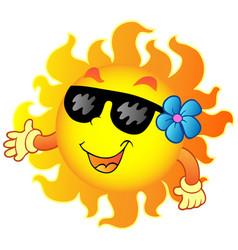 happy summer sun 1 vector image