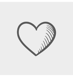 Heart sketch icon vector