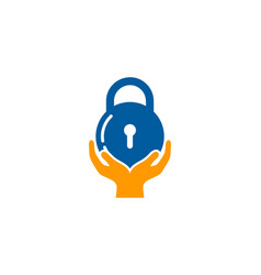 help security logo icon design vector image