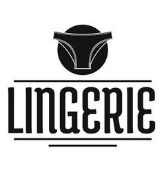 Lingerie design logo simple black style vector
